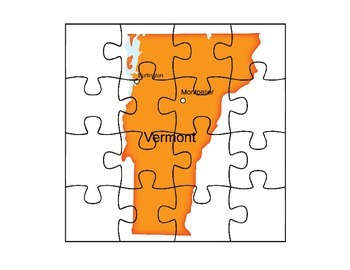 Vermont Map Puzzle