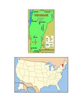 Vermont Map Scavenger Hunt