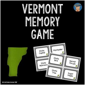 Vermont Memory Game