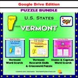 Vermont Puzzle BUNDLE - Word Search & Crossword Activities - U.S States - Google