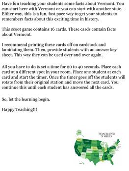 Vermont Scoot Game