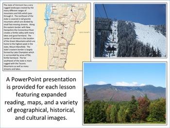 Vermont - State Activity Set