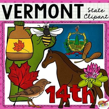 Vermont State Clip Art