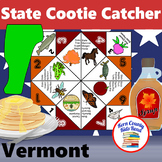 Vermont State Facts and Symbols Cootie Catcher Distance Le