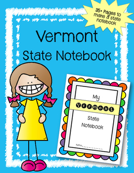 Vermont State Notebook. US History and Geography