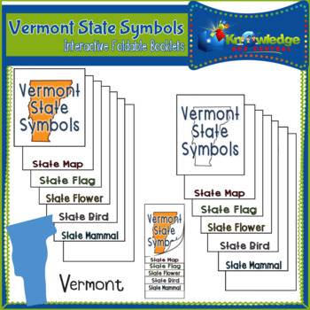 Vermont State Symbols Interactive Foldable Booklets