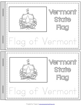 Vermont State Symbols Notebook