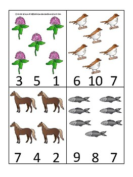 Vermont State Symbols themed Count and Clip Preschool Counting Math Card Game.