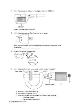 screw gauge diagram vernier caliper  micrometer screw gauge and zero error correction  vernier caliper  micrometer screw gauge