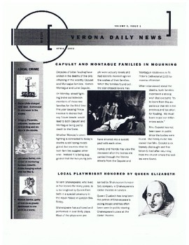 Verona Daily News—Example of a Newspaper Project for a Different Time Period
