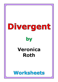 "Veronica Roth ""Divergent"" worksheets"