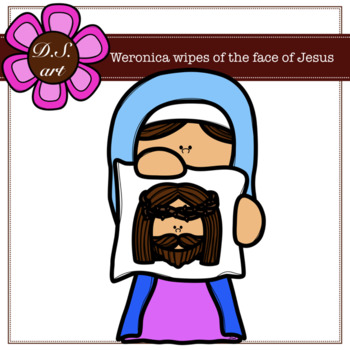 Veronica wipes of the face of Jesus