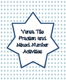 Versa Tile Fraction and Mixed Number Activities
