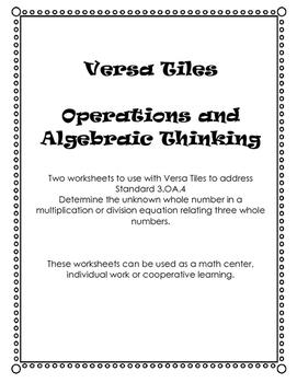 Versa Tiles: Determining the Unknown Factor