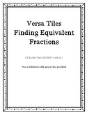 Versa Tiles Finding Equivalent Fractions