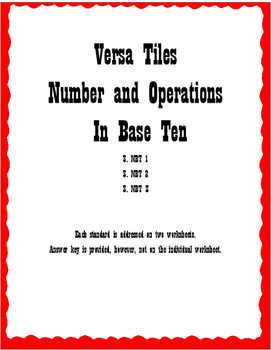 Versa Tiles Numbers and Operations Base Ten Bundle