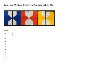 VersaTiles/Card Sort Probability with Die (Dodecahedron)