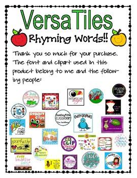 VersaTiles: Rhyming Words