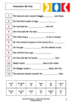 Tiles Systems Worksheets - ROALD DAHL ACTIVITIES - VersaTiles