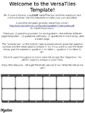 VersaTiles Templates - make your own VersaTiles worksheets!