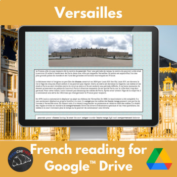 Versailles - a reading for French students for Google Drive