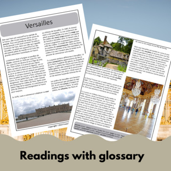 Versailles - a reading for intermediate/advanced French students