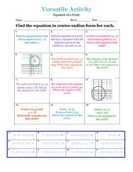 Versatile Circle Equation