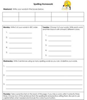 Versatile Homework Packet for Elementary Grades K-3