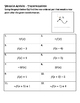 Algebra Versatiles/Card Sort Function Transformation