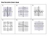 Algebra Versatiles/Card Sort Identifying Domain and Range