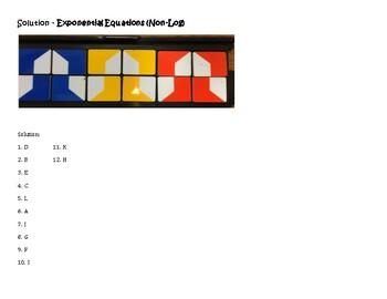 Algebra Versatiles/Card Sort Solving Exponential Equations (Non-Log)