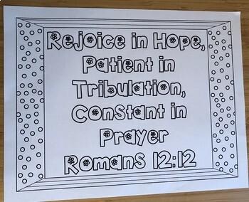 Verse Romans 12:12 Color Page