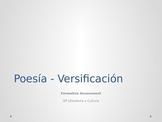Versification - Formative Assessment - AP Literatura y Cultura