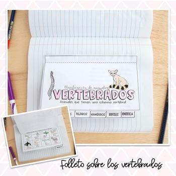 Vertebrados & Invertebrados Libreta Interactiva