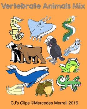 Vertebrate Animal Mix Clip Art