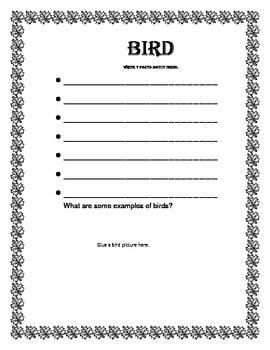 Vertebrate Booklet