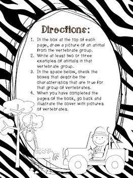 Vertebrate Characterisitics: A Student Booklet