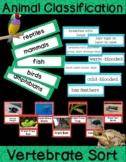 Animals - Vertebrate Classification Sort