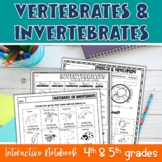 Vertebrates & Invertebrates Interactive Notebook