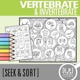 Vertebrate and Invertebrate Seek and Sort Science Doodle &