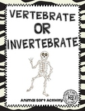 Vertebrate Invertebrate Sort