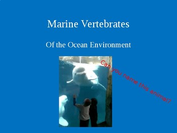 Vertebrate Organisms of the Oceans including free Focus Notes in Preview Window.