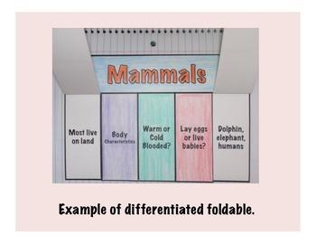 Vertebrates Science Interactive Foldables Bundle