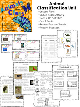 Vertebrate and Invertebrate | Animal Classification Worksheets | Lesson Plans