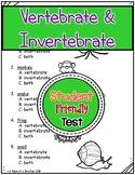 Vertebrate and Invertebrate Test