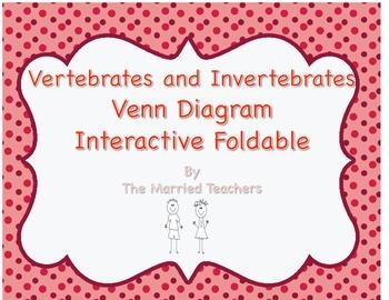 Vertebrate and Invertebrate Venn Diagram Science Interactive Foldable