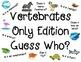 """""""Vertebrate or Invertebrate Guess Who?"""" Games Pack"""