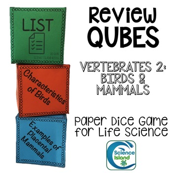Vertebrates 2: Birds and Mammals Review Qubes