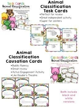 Animal Classes: Classifying Vertebrates and Invertebrates (BUNDLE)