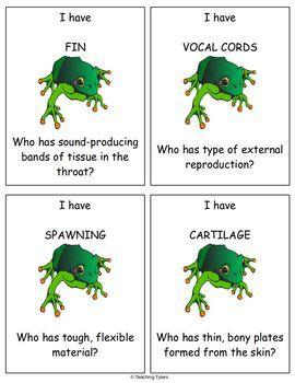 Vertebrates Biology I Have, Who Has Games